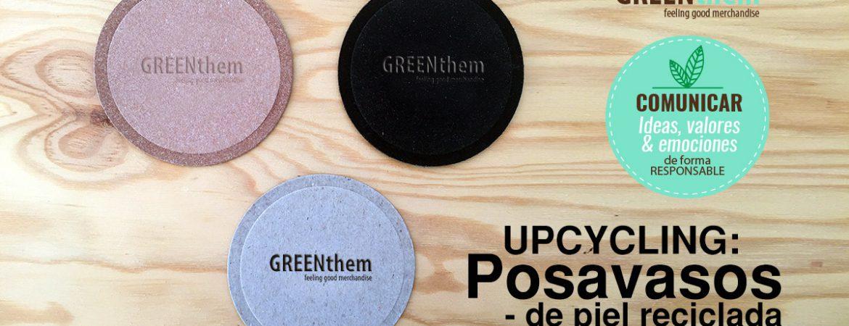 Posavasos material reciclado