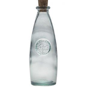 Botella de vidrio reciclado