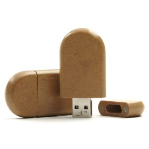 Memoria USB papel reciclado