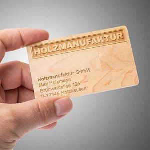 Memoria USB formato tarjeta de madera