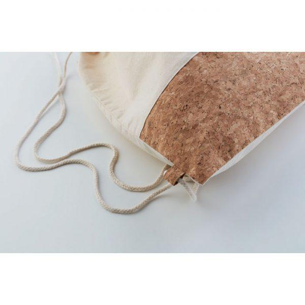 Mochila algodón y corcho