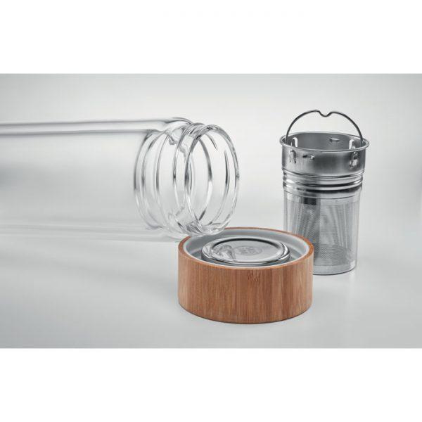 Botella termo de vidrio